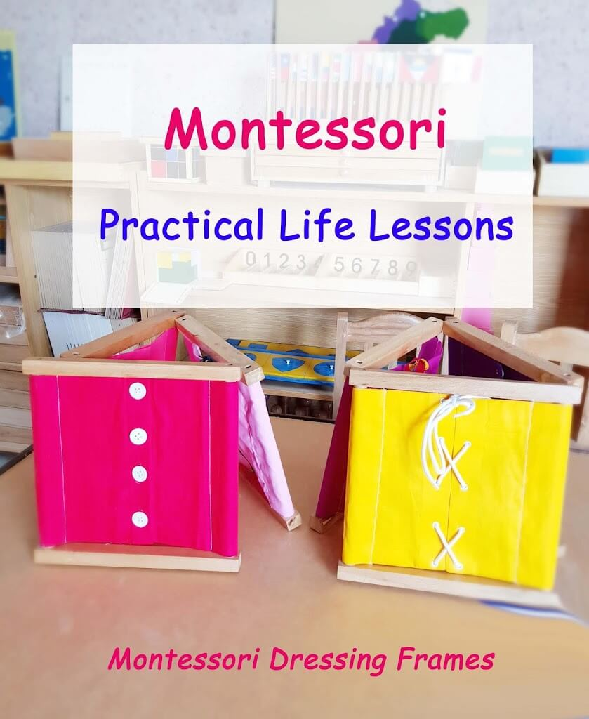 Montessori Practical Life-Dressing Frames Lessons
