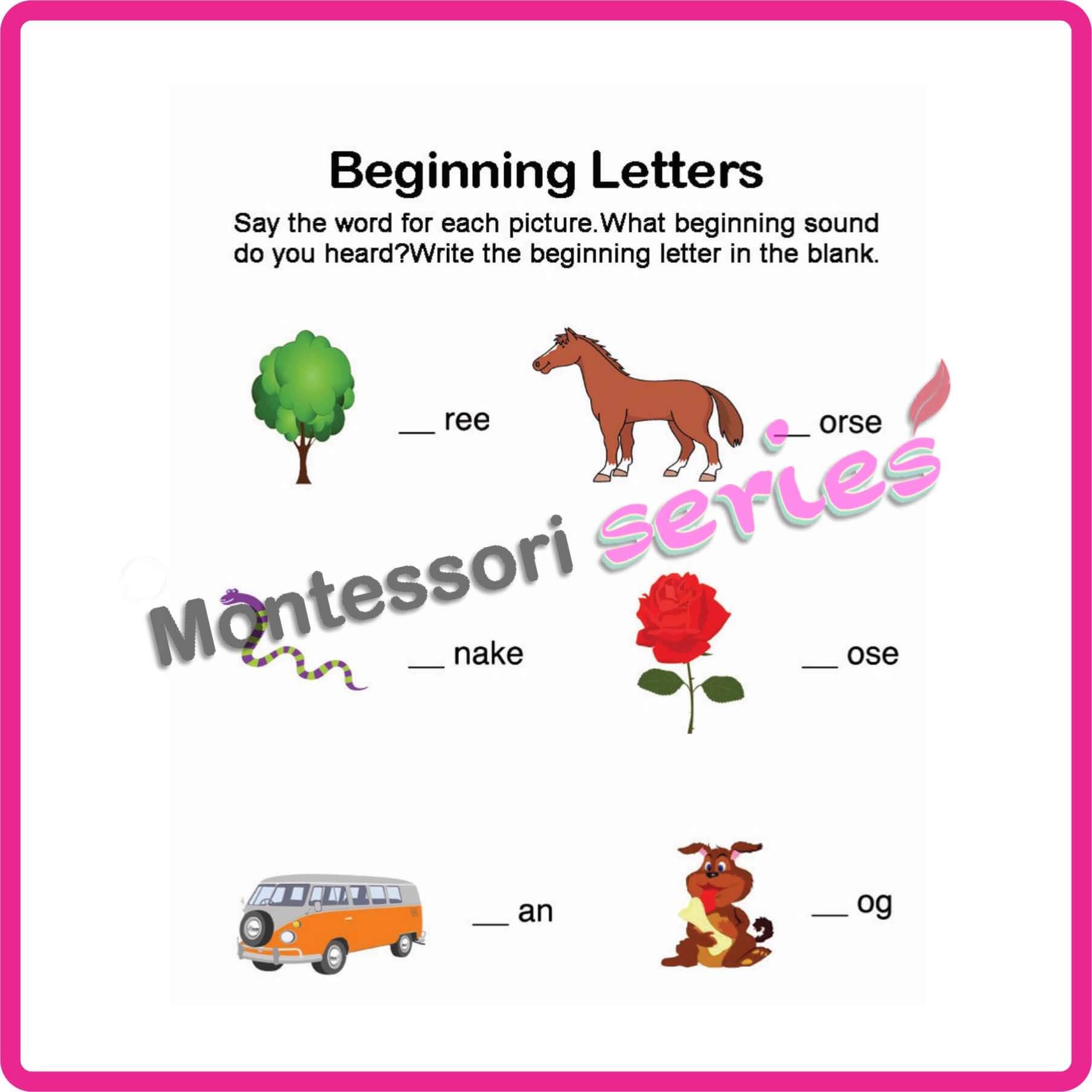 Beginning consonants-English worksheets