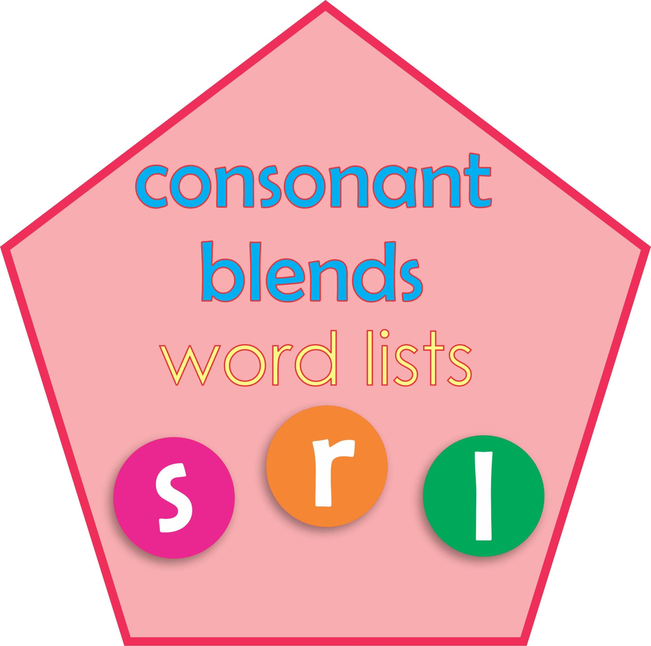Consonant blends word lists