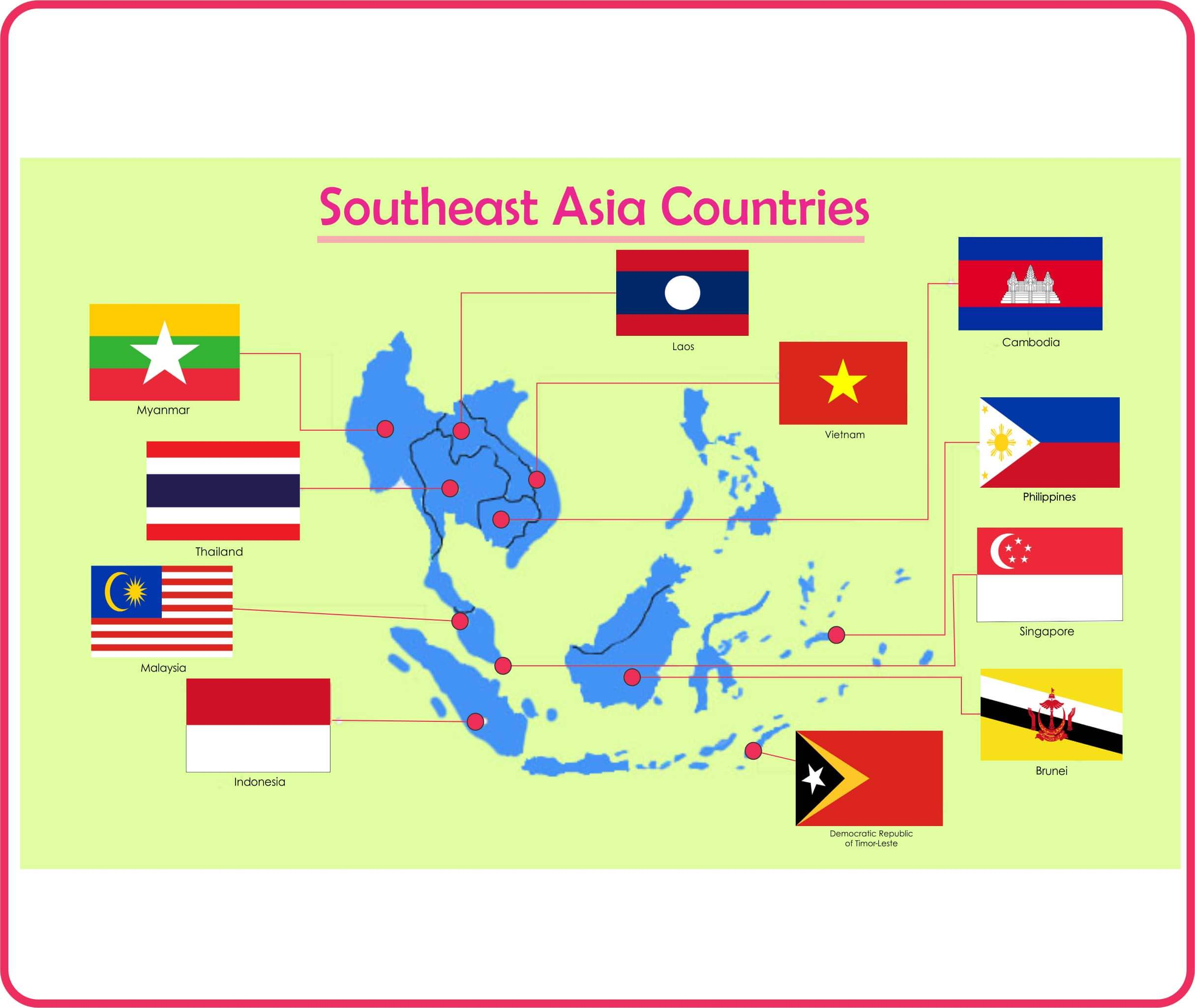 Flags of Southeast Asia Countries