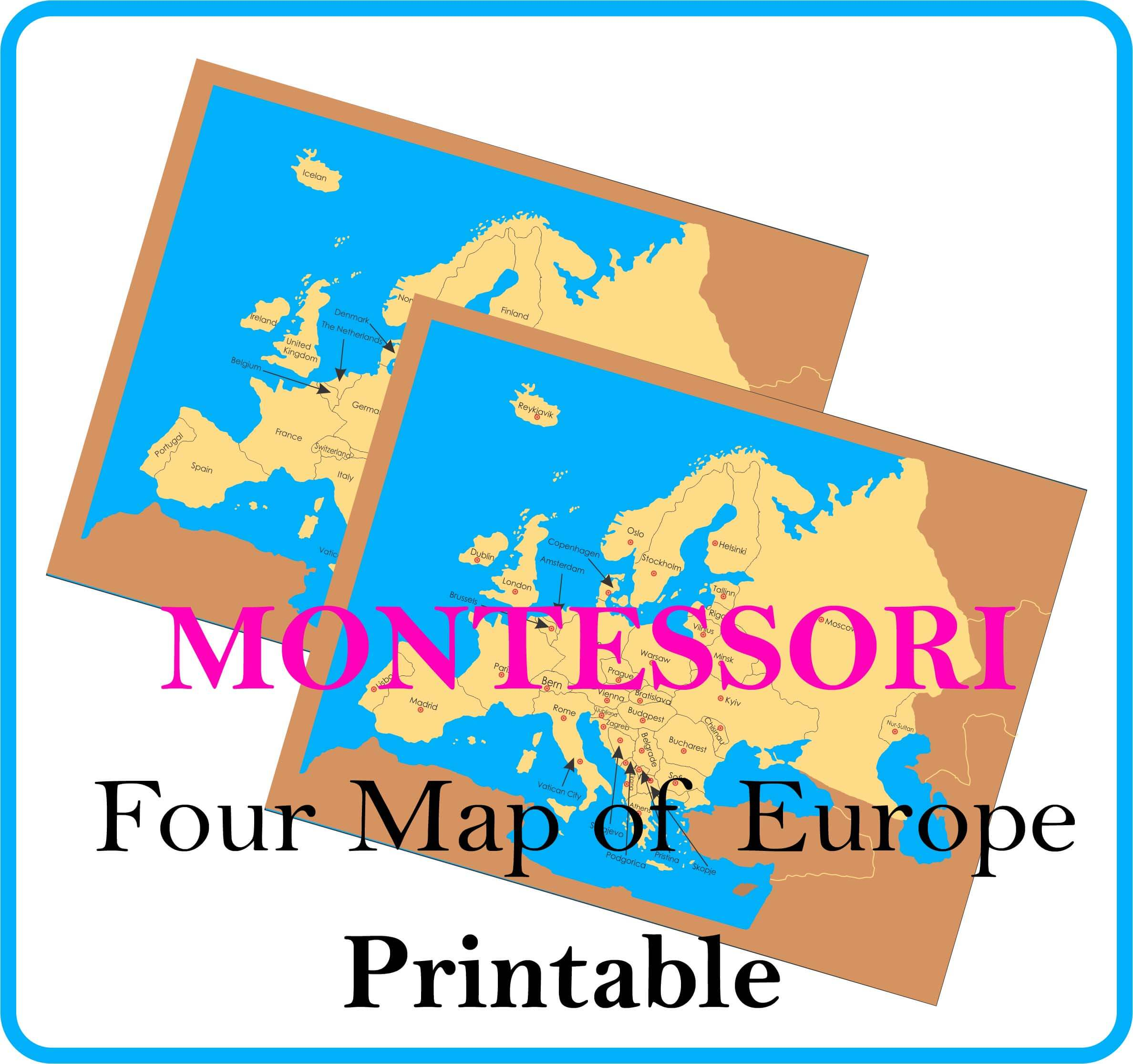 4 Map of Europe Countries